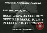 Image of Independence Day ceremony Philadelphia Pennsylvania USA, 1934, second 4 stock footage video 65675022431