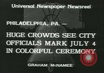 Image of Independence Day ceremony Philadelphia Pennsylvania USA, 1934, second 5 stock footage video 65675022431