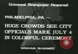 Image of Independence Day ceremony Philadelphia Pennsylvania USA, 1934, second 6 stock footage video 65675022431