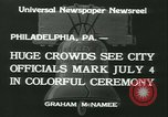 Image of Independence Day ceremony Philadelphia Pennsylvania USA, 1934, second 9 stock footage video 65675022431