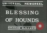 Image of Blessing of the hounds opens Fall Fox Hunt Lexington Kentucky, 1934, second 1 stock footage video 65675022434