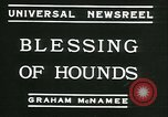 Image of Blessing of the hounds opens Fall Fox Hunt Lexington Kentucky, 1934, second 2 stock footage video 65675022434