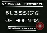 Image of Blessing of the hounds opens Fall Fox Hunt Lexington Kentucky, 1934, second 3 stock footage video 65675022434