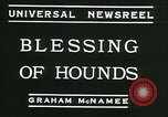 Image of Blessing of the hounds opens Fall Fox Hunt Lexington Kentucky USA, 1934, second 5 stock footage video 65675022434