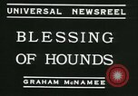 Image of Blessing of the hounds opens Fall Fox Hunt Lexington Kentucky, 1934, second 8 stock footage video 65675022434