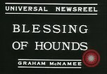Image of Blessing of the hounds opens Fall Fox Hunt Lexington Kentucky, 1934, second 9 stock footage video 65675022434