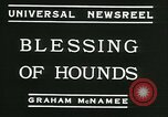 Image of Blessing of the hounds opens Fall Fox Hunt Lexington Kentucky, 1934, second 10 stock footage video 65675022434