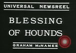 Image of Blessing of the hounds opens Fall Fox Hunt Lexington Kentucky, 1934, second 11 stock footage video 65675022434