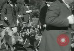 Image of Blessing of the hounds opens Fall Fox Hunt Lexington Kentucky, 1934, second 17 stock footage video 65675022434