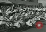 Image of mechanical hobby-horse race Santa Monica California USA, 1934, second 10 stock footage video 65675022442