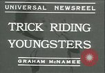 Image of Young children riding horses Kansas City Missouri USA, 1934, second 1 stock footage video 65675022443