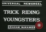 Image of Young children riding horses Kansas City Missouri USA, 1934, second 2 stock footage video 65675022443