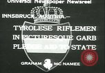 Image of Tyrolese riflemen Innsbruck Austria, 1933, second 2 stock footage video 65675022447