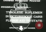 Image of Tyrolese riflemen Innsbruck Austria, 1933, second 7 stock footage video 65675022447