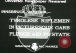 Image of Tyrolese riflemen Innsbruck Austria, 1933, second 9 stock footage video 65675022447