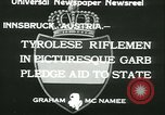 Image of Tyrolese riflemen Innsbruck Austria, 1933, second 11 stock footage video 65675022447