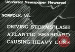 Image of storm lashes Atlantic seaboard Norfolk Virginia USA, 1933, second 9 stock footage video 65675022451