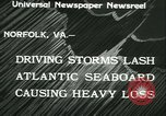 Image of storm lashes Atlantic seaboard Norfolk Virginia USA, 1933, second 12 stock footage video 65675022451
