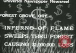 Image of Forest fire Forest Grove Oregon USA, 1933, second 2 stock footage video 65675022456