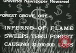 Image of Forest fire Forest Grove Oregon USA, 1933, second 3 stock footage video 65675022456