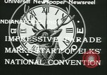 Image of Elks National Convention Indianapolis Indiana USA, 1933, second 3 stock footage video 65675022458
