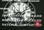 Image of Elks National Convention Indianapolis Indiana USA, 1933, second 4 stock footage video 65675022458