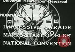 Image of Elks National Convention Indianapolis Indiana USA, 1933, second 5 stock footage video 65675022458