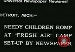 Image of Fresh Air Camp summer camp for poor children Detroit Michigan USA, 1933, second 3 stock footage video 65675022459