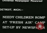 Image of Fresh Air Camp summer camp for poor children Detroit Michigan USA, 1933, second 5 stock footage video 65675022459