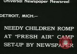 Image of Fresh Air Camp summer camp for poor children Detroit Michigan USA, 1933, second 6 stock footage video 65675022459