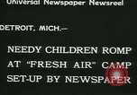 Image of Fresh Air Camp summer camp for poor children Detroit Michigan USA, 1933, second 9 stock footage video 65675022459