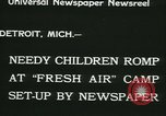 Image of Fresh Air Camp summer camp for poor children Detroit Michigan USA, 1933, second 11 stock footage video 65675022459
