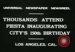 Image of celebration of city's 150th birthday Los Angeles California USA, 1931, second 2 stock footage video 65675022461