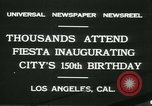 Image of celebration of city's 150th birthday Los Angeles California USA, 1931, second 3 stock footage video 65675022461