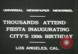 Image of celebration of city's 150th birthday Los Angeles California USA, 1931, second 4 stock footage video 65675022461