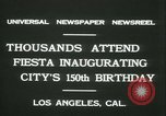 Image of celebration of city's 150th birthday Los Angeles California USA, 1931, second 6 stock footage video 65675022461