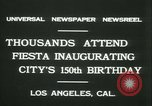 Image of celebration of city's 150th birthday Los Angeles California USA, 1931, second 10 stock footage video 65675022461