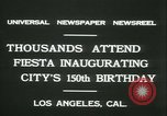Image of celebration of city's 150th birthday Los Angeles California USA, 1931, second 11 stock footage video 65675022461