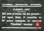 Image of Identical twins tournament Albany New York USA, 1931, second 1 stock footage video 65675022463