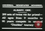 Image of Identical twins tournament Albany New York USA, 1931, second 6 stock footage video 65675022463