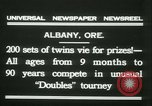 Image of Identical twins tournament Albany New York USA, 1931, second 9 stock footage video 65675022463