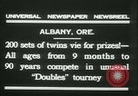 Image of Identical twins tournament Albany New York USA, 1931, second 10 stock footage video 65675022463