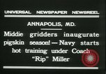 Image of US Naval Academy football Annapolis Maryland USA, 1931, second 12 stock footage video 65675022465