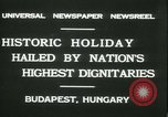 Image of Admiral Horthy and Count Karyoli Budapest Hungary, 1931, second 3 stock footage video 65675022466