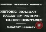 Image of Admiral Horthy and Count Karyoli Budapest Hungary, 1931, second 5 stock footage video 65675022466