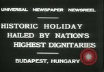 Image of Admiral Horthy and Count Karyoli Budapest Hungary, 1931, second 6 stock footage video 65675022466
