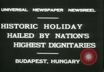 Image of Admiral Horthy and Count Karyoli Budapest Hungary, 1931, second 7 stock footage video 65675022466