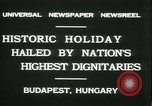 Image of Admiral Horthy and Count Karyoli Budapest Hungary, 1931, second 11 stock footage video 65675022466