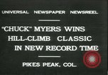 Image of Chuck Myers auto race Pikes Peak Colorado USA, 1931, second 1 stock footage video 65675022467