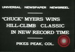 Image of Chuck Myers auto race Pikes Peak Colorado USA, 1931, second 2 stock footage video 65675022467